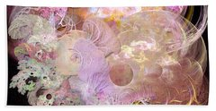 Fractal Feathers Pink Beach Towel