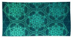 Beach Sheet featuring the drawing Fractal Interference by Jason Padgett