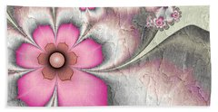 Fractal Nostalgic Flowers 2 Beach Towel by Gabiw Art