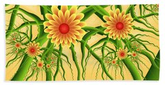 Fractal Summer Pleasures Beach Towel by Gabiw Art