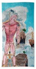Fragiles Colossus Beach Towel by Lazaro Hurtado