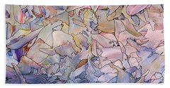 Fragmented Sea - Square Beach Towel