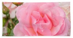 Fragrant Cloud Rose Beach Towel