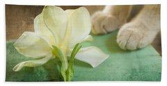 Fragrant Gardenia Beach Towel