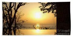 Framed Golden Sunset Beach Sheet