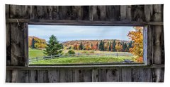 Framed-autumn In Vermont Beach Towel