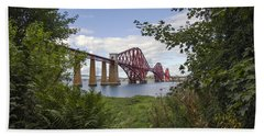 Framing The Forth Bridge Beach Towel