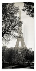 The Eiffel Tower Paris France Beach Towel