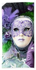 Beach Towel featuring the photograph Francine's Purple Glove by Donna Corless