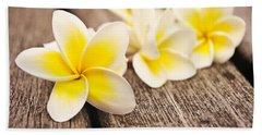 Frangipani Flower Beach Towel