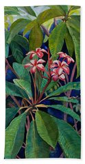Frangipani Beach Sheet by Susan Duda