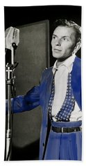 Frank Sinatra - Old Blue Eyes Beach Towel