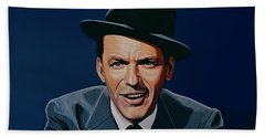 Frank Sinatra Beach Towel by Paul Meijering