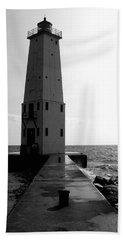 Frankfort Michigan Lighthouse Ll Beach Towel