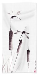 Free As The Dragonflies Beach Towel
