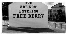 Beach Towel featuring the photograph Free Derry Corner by Nina Ficur Feenan