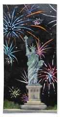 Beach Towel featuring the painting Freedom by Judith Rhue
