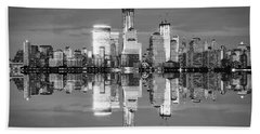 Freedom Tower Black And White Beach Towel