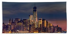 Freedom Tower Construction End Of 2013 Beach Sheet by Jerry Fornarotto