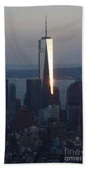 Freedom Tower Beach Sheet by John Telfer