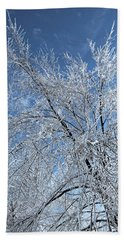 Beach Towel featuring the photograph Freezing Rain ... by Juergen Weiss