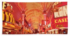 Fremont St Experience, Las Vegas, Nv Beach Towel