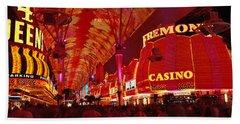 Fremont Street, Las Vegas, Nevada, Usa Beach Towel