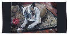 french Bull dog Beach Towel