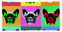 French Bulldog Beach Towel