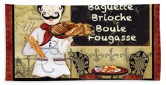 French Chef-a Beach Towel