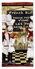 French Chefs-bistro Beach Towel