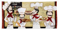 French Chefs-bon Appetit Beach Sheet
