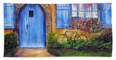 French Cottage Beach Towel