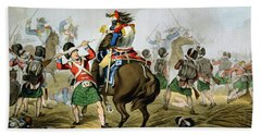French Cuirassiers At The Battle Beach Towel