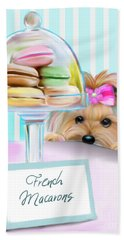 French Macarons Beach Towel