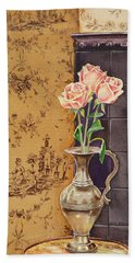 French Roses Beach Towel