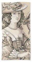 French Seventeenth Century Costume Beach Towel