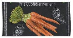 French Vegetables 4 Beach Sheet by Debbie DeWitt