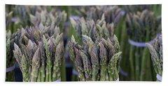 Fresh Asparagus Beach Towel by Mike  Dawson