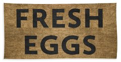 Fresh Eggs Beach Towel