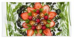 Fresh Fruit Salad Beach Sheet by Anne Gilbert