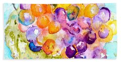 Fresh Grapes Beach Towel by Beverley Harper Tinsley