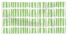 Fresh Grass- Abstract Pattern Painting Beach Towel
