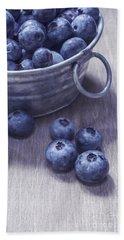 Fresh Picked Blueberries With Vintage Feel Beach Towel