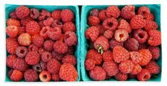 Fresh Raspberries Beach Sheet