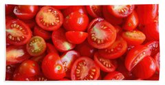 Fresh Red Tomatoes Beach Sheet