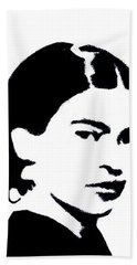 Frida Black And White Beach Towel