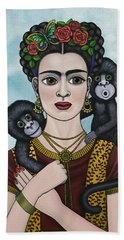 Frida In The Sky Beach Towel