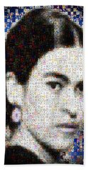 Frida Kahlo Mosaic Beach Towel