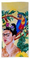Frida Kahlo Beach Towel